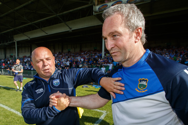 Derek McGrath and Michael Ryan after the game