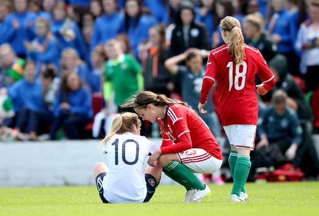 Hanna Nemeth consoles Saoirse Noonan