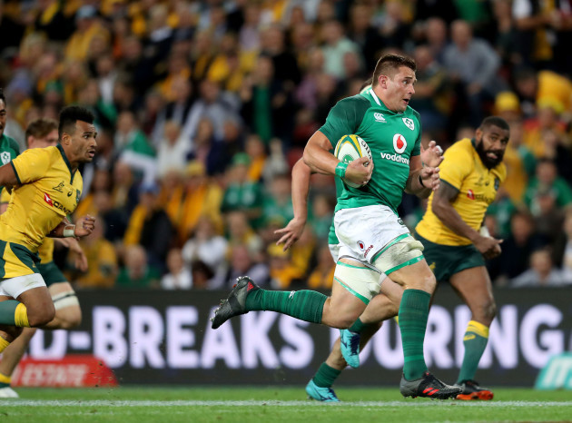 CJ Stander charges to the line