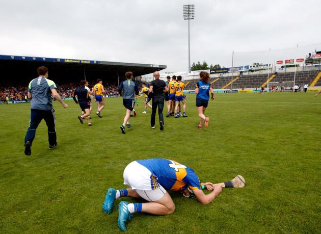 Noel McGrath dejected after the game