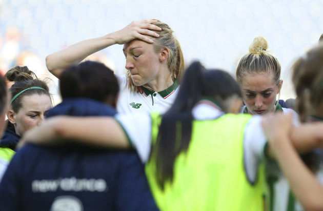Louise Quinn dejected after the game