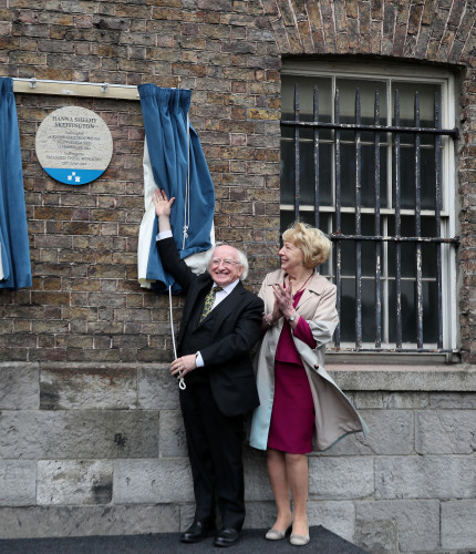 Unveiling of the Hanna Sheehy Skeffington commemorative plaque