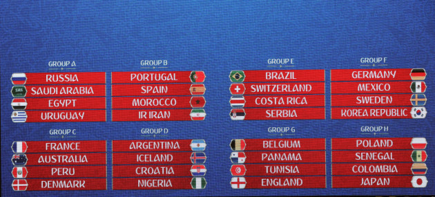 FIFA 2018 World Cup Draw in Moscow