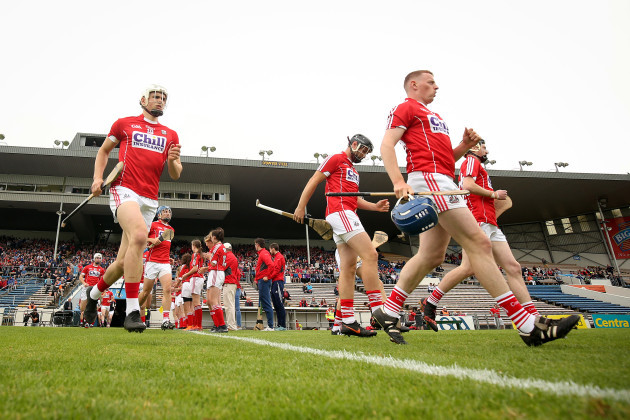 The Cork team take to the field