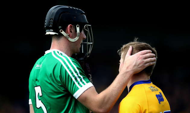 Podge Collins with Diarmaid Byrnes after the game