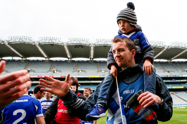 John Sugrue with his son Conor
