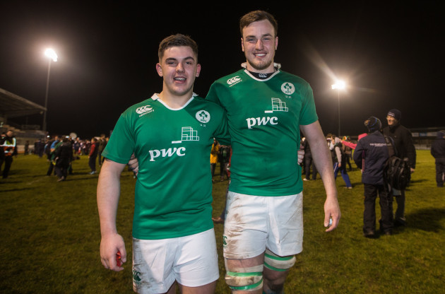 Adam McBurney and Alex Thompson celebrate