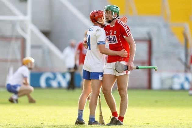 Darragh Lyons with Robbie O'Flynn at the final whistle