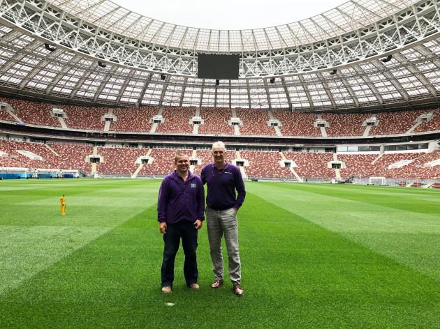 George Mullan with Maxim Radomsky our headgroundsman at Luzhniki (2)