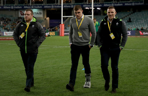 Sean Cronin, Garry Ringrose and Andrew Conway arrive