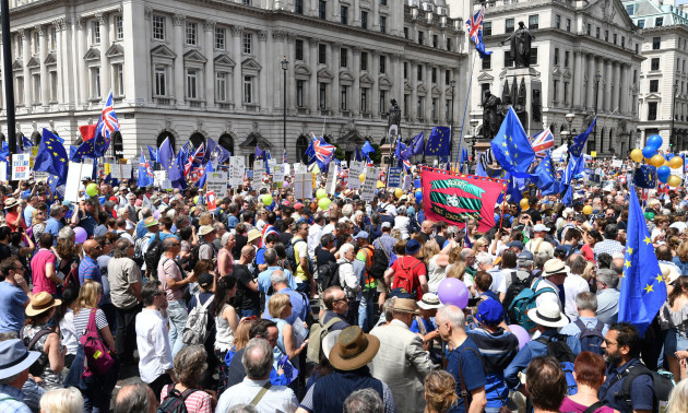 People's Vote march for a second EU referendum - London