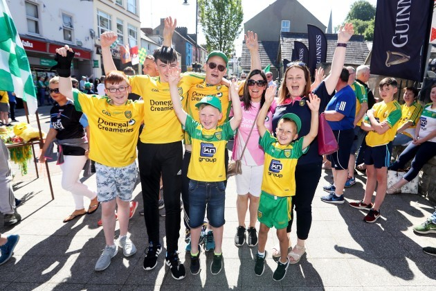 Donegal fans before the match in Clones