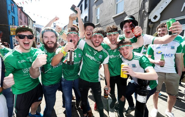Fermanagh fans before the match in Clones