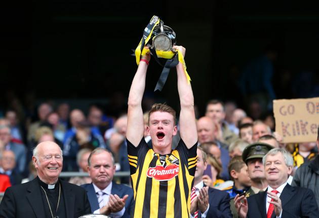 Darragh Joyce lifts the cup