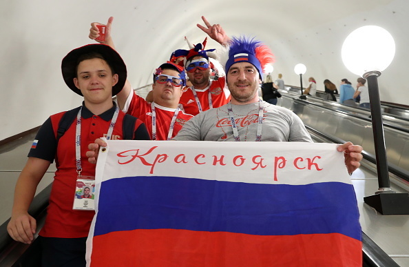 2018 FIFA World Cup: football fans in Moscow