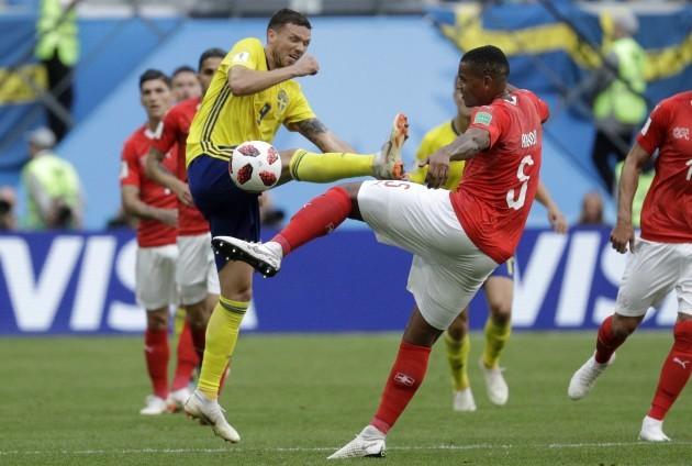 Russia Soccer WCup Sweden Switzerland
