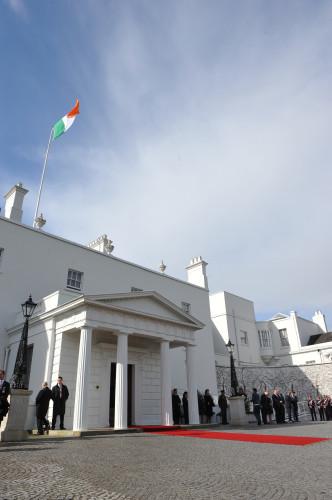 Prince Albert II of Monaco and Charlene Wittstock on state visit in Ireland