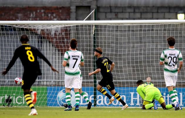 Daniel Sundgren scores the first goal