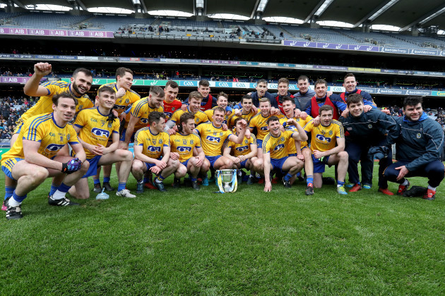 Roscommon team with league cup
