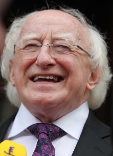 File Photo Michael D Higgins to seek second term as president . End.