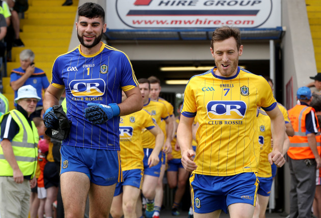 olm Lavin and Conor Devaney before the game