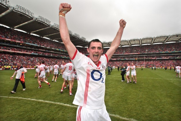 Donncha O'Connor celebrates after the game