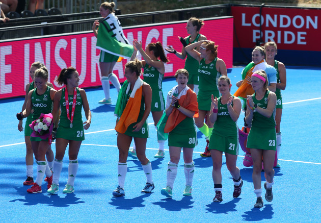 United Kingdom: Ireland v Spain - FIH Womens Hockey World Cup Semi Final