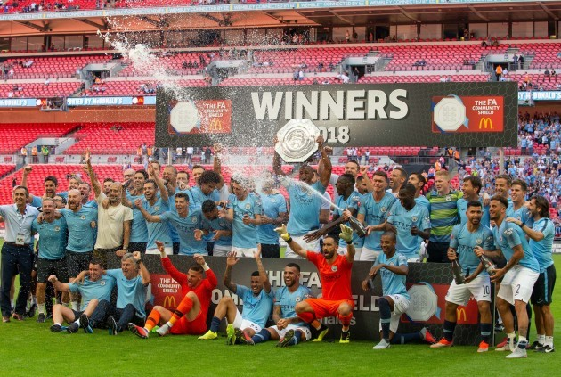 (SP)BRITAIN-LONDON-FOOTBALL-THE FA COMMUNITY SHIELD-CHELSEA VS MANCHESTER CITY
