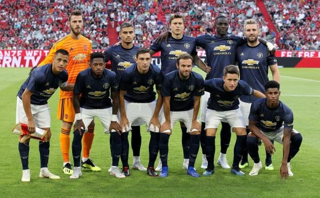 Munich, 05.08.2018, firo, football, 1.Bundesliga, season 2018/2019, friendly match, FC Bayern Munich - Manchester United