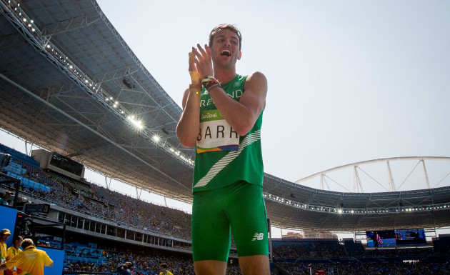 Thomas Barr after finishing fourth