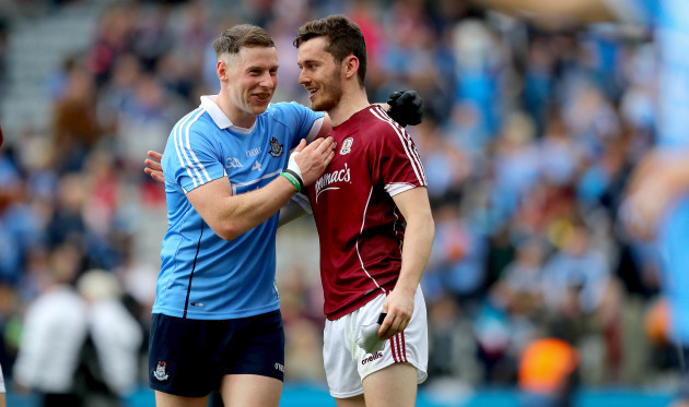 Philip McMahon with Ian Burke after the game