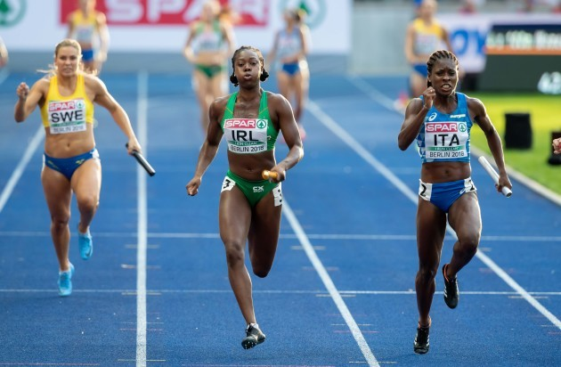 Gina Akpe-Moses anchors the home leg