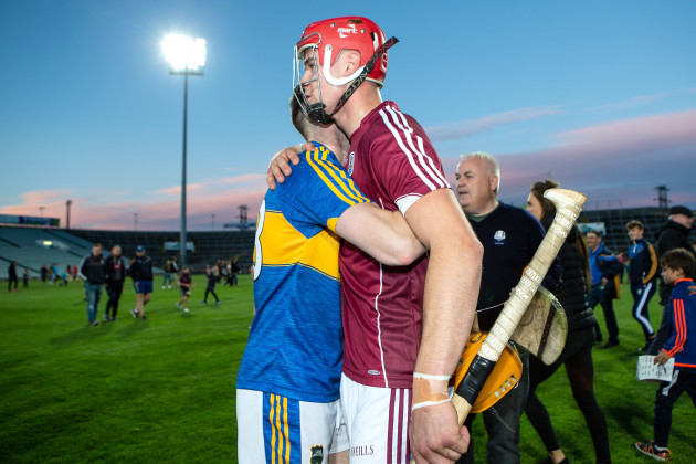 Jack Canning congratulates Cian Darcy of Tipperary after the game