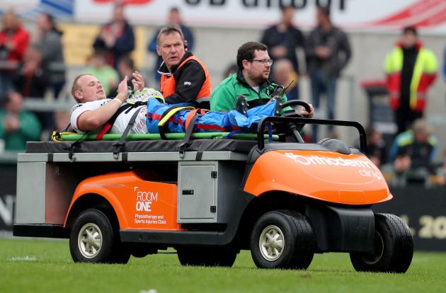 Luke Marshall goes off injured