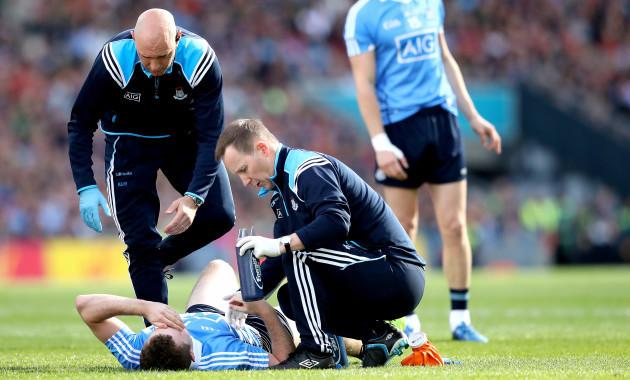Jack McCaffrey down injured