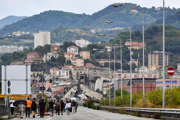 ITALY-GENOA-MOTORWAY BRIDGE-COLLAPSE