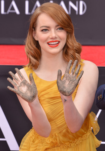 Ryan Gosling and Emma Stone Hand and Footprint Ceremony - Los Angeles