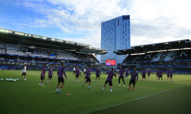 Real Madrid v Sevilla - UEFA European Super Cup - Real Madrid Training Session - Lerkendal Stadion