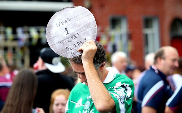 A fan searching for tickets