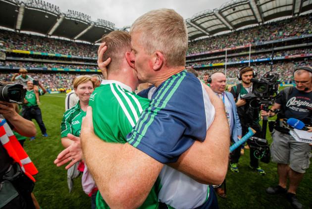 Shane Dowling celebrates with John Kiely