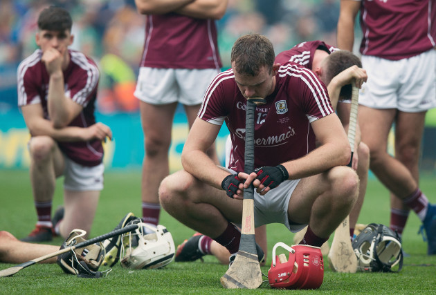 Jonathan Glynn dejected at the end of the game