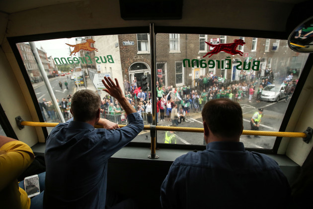 John Kiely salutes the crowds