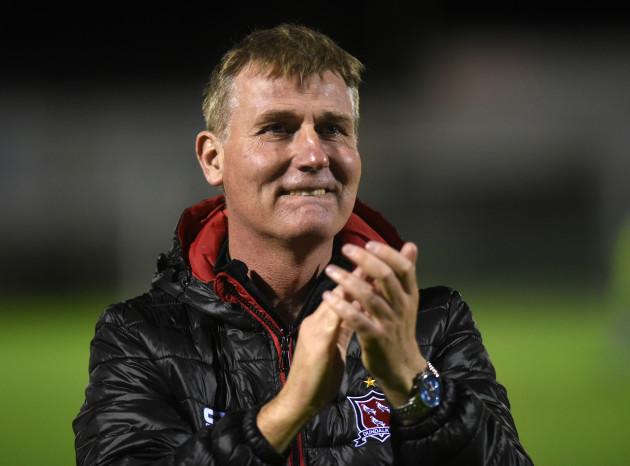 Stephen Kenny celebrates winning