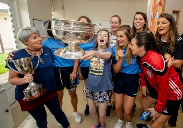 Cork players with Sally Fox
