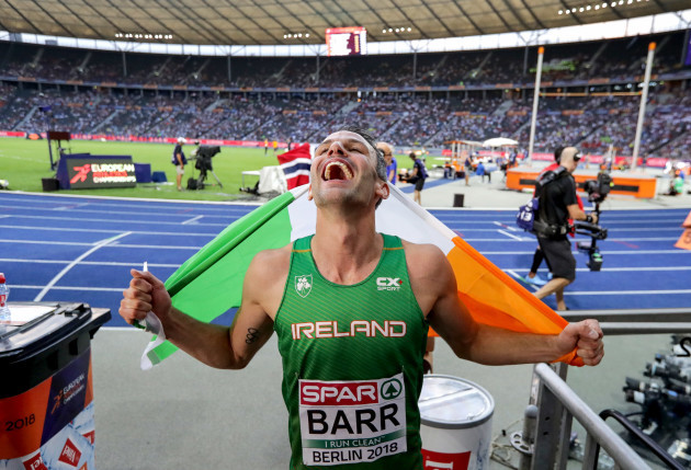 Thomas Barr celebrates winning bronze
