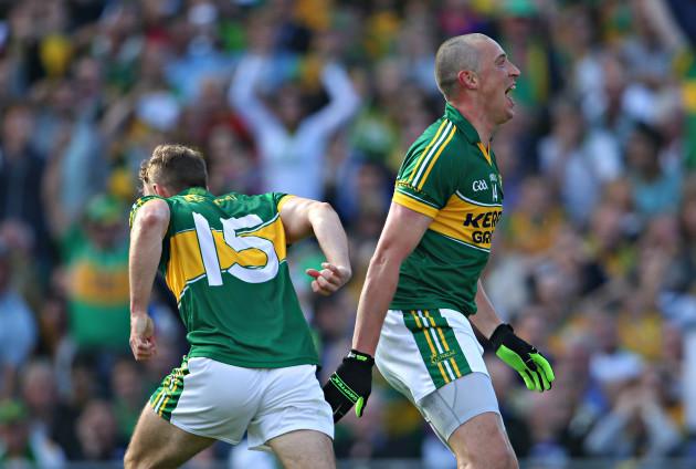 Kieran Donaghy celebrates scoring a goal