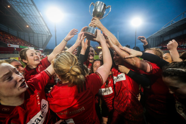 Munster celebrate winning The Women's Interprovincial Series
