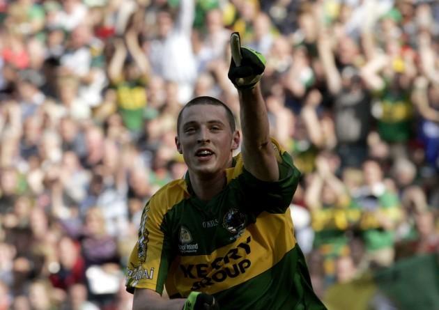 Kieran Donaghy celebrates his goal