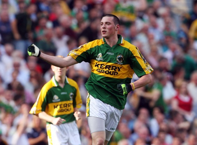 Kieran Donaghy celebrates scoring