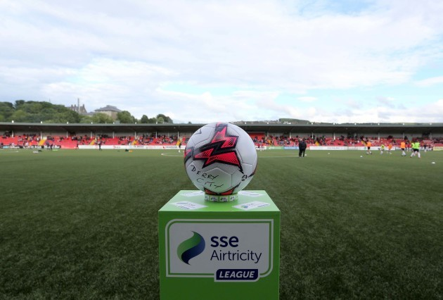 A view of the match ball